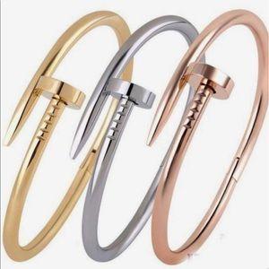 18k Dainty Gold Nail Wrap Cuff Bracelet Bangle